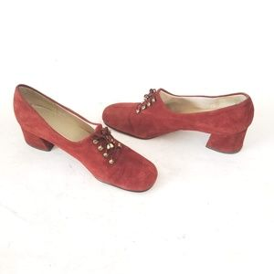 Vintage 60's Connie Suede Heels - Size 8 AA